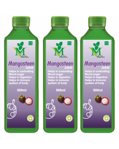 Mint Veda Mangosteen (Sugar Free) Juice (500ml) Pack of 2