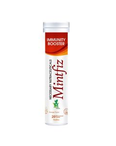 Mint Veda Mintfiz Immunity Booster 20 Effervescent Tablets Orange Flavour Pack of 1