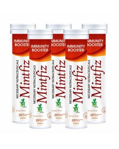 Mint Veda Mintfiz Immunity Booster 20 Effervescent Tablets Orange Flavour Pack of 3
