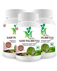 Mint Veda Saw Palmetto Vegetarian 60 Capsules Pack of 2
