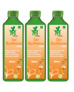 Mint Veda Sea Buckthorn (Sugar Free) Juice (500ml) Pack of 2