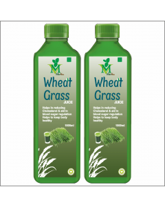 Mint Veda Wheat Grass (Sugar Free) Juice (1liter) Pack of 1