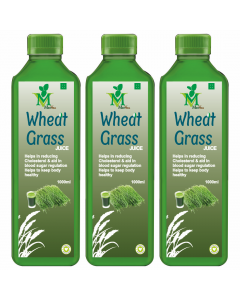 Mint Veda Wheat Grass (Sugar Free) Juice (1liter) Pack of 2