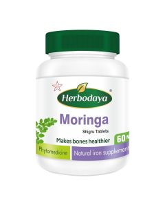 Herbodaya Moringa (Shigru) Tablets 250mg (Natural Iron Supplements ) - 60 Tablets