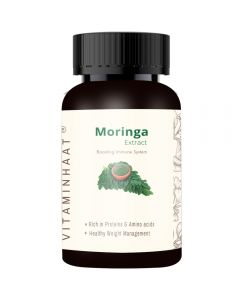 Vitaminhaat Moringa Extract Rich in Proteins 500 mg - 75 Capsules