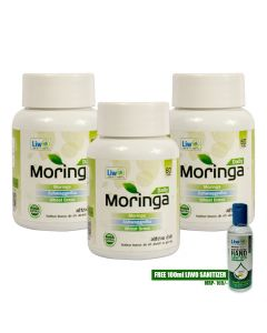 Liwo Moringa Daily - 60 Tabs (Pack of 3) With 1 Liwo Health Sanitizer 100ml Free