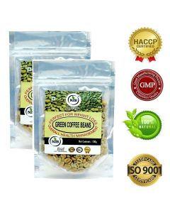 N2B A++ Grade Green Coffee beans 100g (Pack of 2)