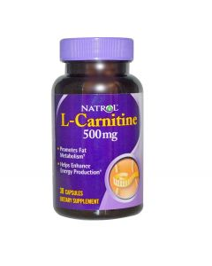 Natrol L Carnitine 500mg - 30 Caps