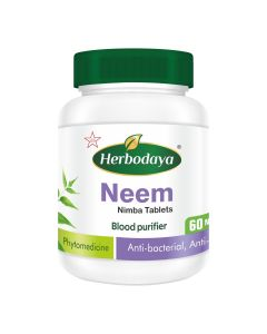 Herbodaya Neem Tablet (Blood Purifier) 250mg - 60 Tablets