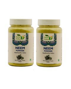 Indian Herbal Valley Neem patra powder - 100 gms (Pack of 2) Natural Neem Leaf (Azadirachta indica) Powder Combo - Blood purifier