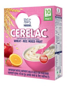 Nestle Cerelac Wheat Rice Mixed Fruit (Stage 3) 300gm