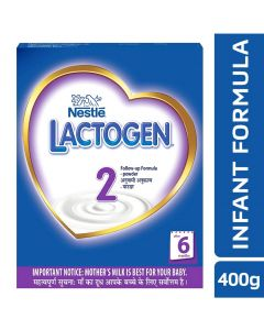 Nestle Lactogen 2 Follow-Up Formula Powder - After 6 months Stage 2 400 gm Bib Pack