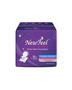 Newfeel 275mm Ultrathin Ultimate Sanitary Napkin XL-Size 40 Pads (2 Pack Of 20 Pcs)