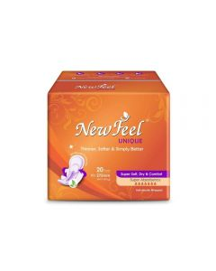 Newfeel 275mm Ultrathin Unique Sanitary Napkin XL-Size 40 Pads (2 Pack Of 20 Pcs)