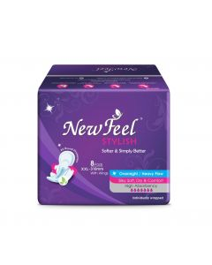 Newfeel 310mm Maxi Stylish Sanitary Napkin XXL-Size 24 Pads (3 Pack Of 8 Pcs)