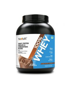 Novkafit 100% Whey Protein with DigeZyme Digestive Enzymes - 2 kg (4.4 lb), Double Chocolate