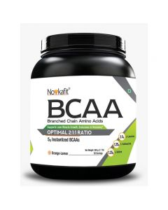 Novkafit BCAA Powder 500 g(1.1 lb) 50 Servings (Orange-Lemon Flavour)