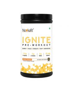 Novkafit Ignite Pre-Workout - 400 g(0.88 lb) 33 Servings (Fruit Punch Flavour)