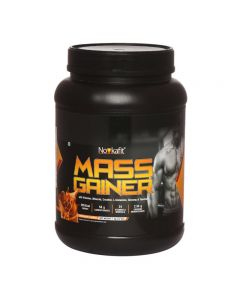 Novkafit Mass Gainer with Creatine, L-Glutamine, Ginseng, Taurine, 24 Vitamins & Minerals - 1 kg Chocolate Flavour