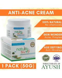 Nature Sure Herbal Anti-Acne Cream with Anti-Ageing Wrinkle Defense System - 1 Pack (50gm)