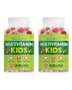 Nutrainix Complete Multivitamin Vegetarian Gummies for Kids, Teenagers, Men, Women, Adults With Essential Vitamins, 60 Veg Gummies