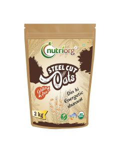 Nutriorg Certified Organic Steelcut Oats 2 kg