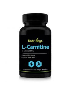 Nutriosys L-carnitine 500mg (90 Tablets)