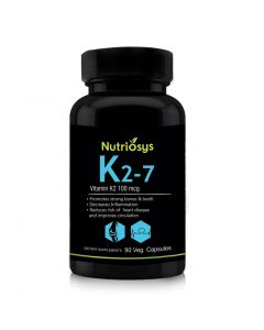 Nutriosys Vitamin K2 as MK-7 - 100mcg (90 Veg Capsules)