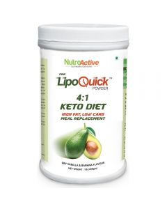 NutroActive Lipoquick Keto Diet Meal Replacement Low Carb Weight Loss Products 450 gm