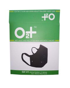 O2+ Blue Puzzle Reusable Anti Pollution Mask With N99 Active Carbon Grade Filter - Medium