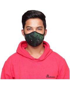 O2+ Electro Reusable Anti Pollution Mask With N99 Active Carbon Grade Filter - Large
