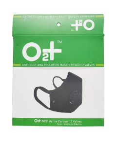 O2+ Electro Reusable Anti Pollution Mask With N99 Active Carbon Grade Filter - Medium