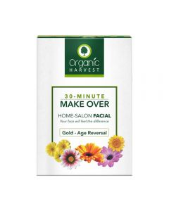 Organic Harvest Gold- Age Reversal - 30 Minute Make Over Home-Salon Facial Kit ( Pack of 4 ) 50g