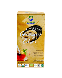 Organic Wellness Real Ginger Chai Tea 25 tea bag