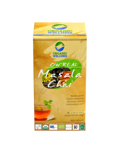 Organic Wellness Real Masala Chai Tea 25 tea bag
