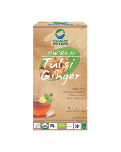 Organic Wellness Real Tulsi Ginger Tea 25 tea bag