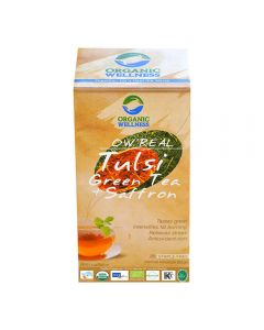 Organic Wellness Real Tulsi Green Tea Saffron 25 tea bag