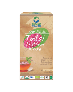Organic Wellness Real Tulsi Indian Rose Tea 25 tea bag