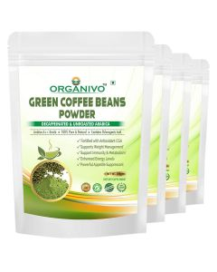 Organivo Natural Green Coffee Beans Powder with Lime Flavour 200 gms, Pack of 3