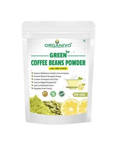 Organivo Natural Green Coffee Beans Powder with Lime Flavour 200 gms, Pack of 1