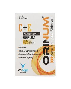 Orinum Vitamin C+E Antioxidant Serum 20 Times Stronger & Stable - 20 ml