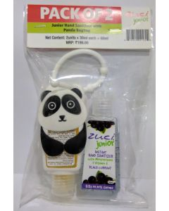 Zuci Pack of 2 Junior Hand Sanitizer with Panda bag tag - 30ml*2=60ml