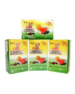 All in One Herbal Lemon Tea Premix Sulphur less Sugar (100 pouches ) - Pack Of 4