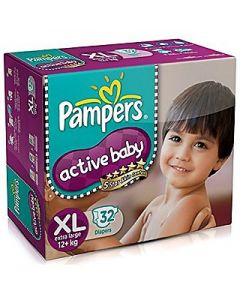 Pampers Active Baby Diaper Xl 32pcs