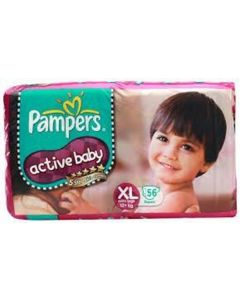 Pampers Active Baby Diaper XL 56pcs Pouch