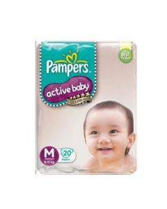 Pampers Active Baby Diapers - Medium (6-11 kg) 20pcs