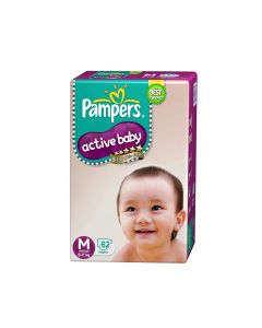 Pampers Active Baby Diapers - Medium (6-11 kg) 62pcs