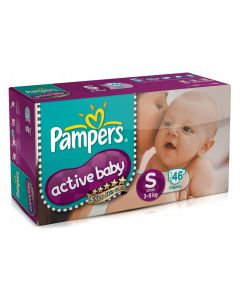 Pampers Active Baby Diapers Small (3-8 kg) 46pcs