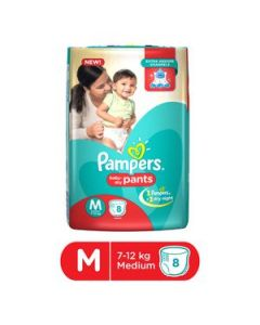 Pampers Baby Pants - Medium (7-12 kg) 8pcs Pouch