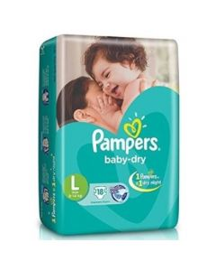Pampers Disposable Diapers Large (9-14 kg) 18pcs